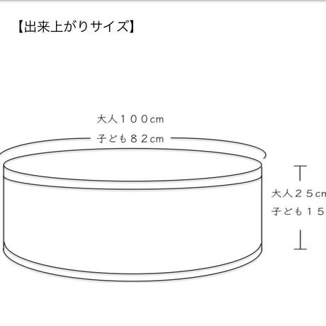 """""""おそろいのえりまき""""糸セット用PDFパターン(大人・子ども)"""