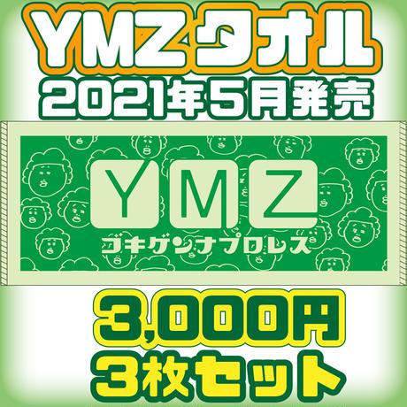 【公式】YMZゴキゲンナプロレスタオル3枚セット 2021.5