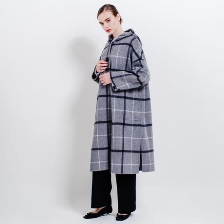 【sample sale】hooded river coat (graycheck)