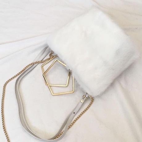 fluffy mink (white)