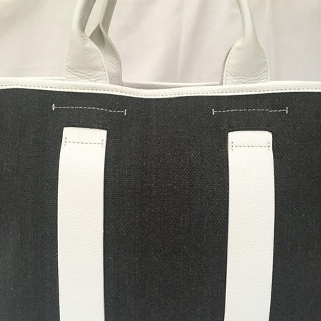 city tote (white×charcoal gray)