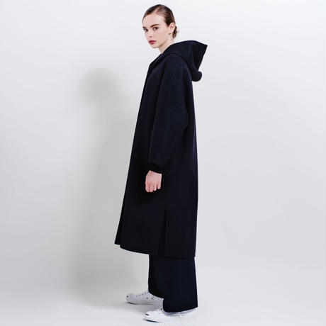 【sample sale】hooded river coat (black)