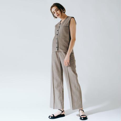 linen set up (khaki gray)