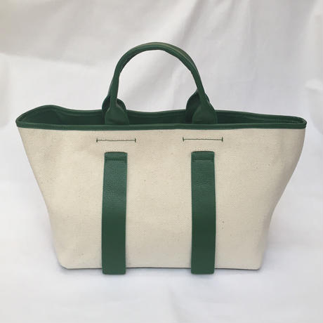 city tote (green×ivory)