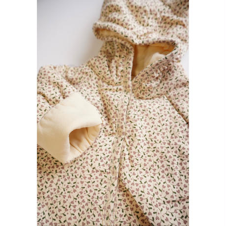 【Konges Sløjd】new born onesie with hood - milk tank