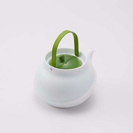 YOnoBI 磁器ティーポット【TANE】ライトグリーン