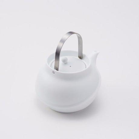 YOnoBI 磁器ティーポット【TANE】シルバー