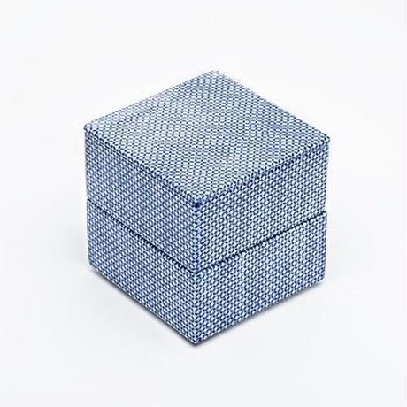 TIME & STYLE 磁器重箱【JU-BAKO】S / 本体 / 極 / 四角 / 縞 / 角松朱