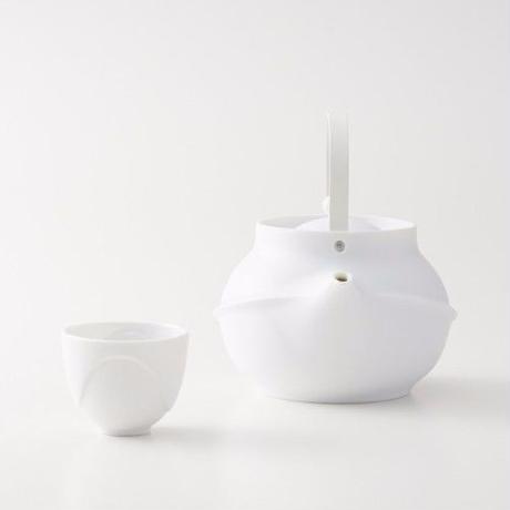 YOnoBI 磁器ティーポット【TANE】ホワイト