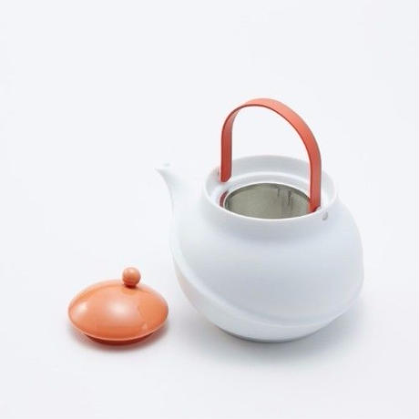 YOnoBI 磁器ティーポット【TANE】コーラルピンク