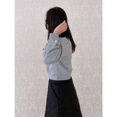 【9月18日まで1000円OFF】グレイスレディのデイリーセットアップ【中綿スカートとビジュートップスSET】【ユヒャン大推薦】