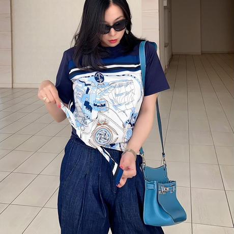 【4月30日まで10%OFF】ブルーパリススカーフティー【高級感あるスカーフデザイン】