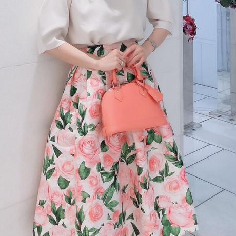 ローズプリンセススカート【ウエストゴム&高級感あり】