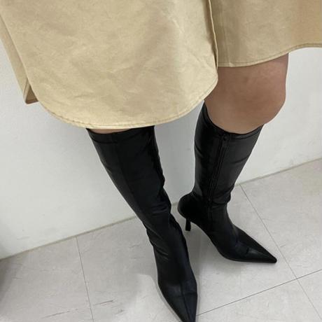 美脚ストレッチエコレザーブーツ【伸縮伸び伸び】撮影使用頻度高♡