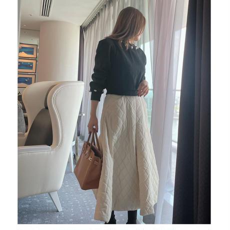 【9月28日まで1000円OFF】グレイスレディのデイリーセットアップ【中綿スカートとビジュートップスSET】【ユヒャン大推薦】