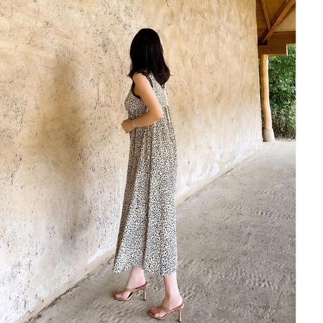 【6月12日まで】レオパードシルキードレス