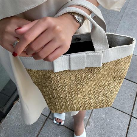 クラシカルリボンバッグ【ビスコース素材で高級感あり】