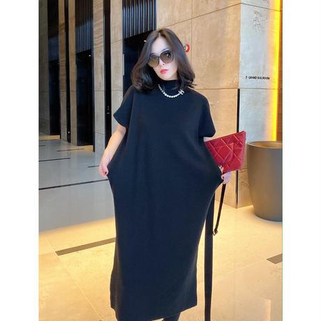 デイリークイーンニットドレス【高級感あり】【二の腕・お腹カバー!】