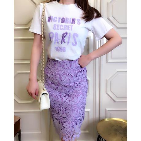 マリアの平日セットアップ【Tシャツとレーススカートのセットアップ】◆S/Mサイズ展開◆