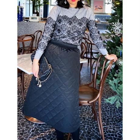 【10月31日まで10%OFF】レディキルティング中綿スカート【高級感あり】