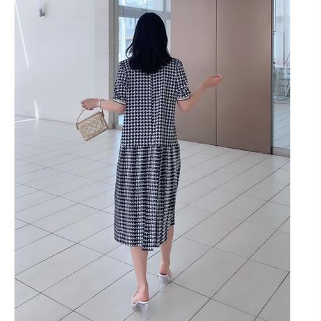 【本日ライブ紹介】千鳥レディワンピース【シワになりにくいツルン素材】