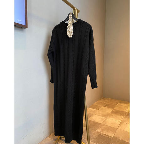 ザックリベーシックニットドレス