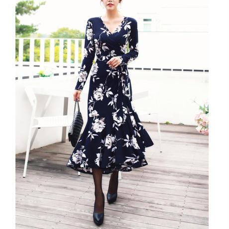 【10月15日まで10%OFF】リリーフレグランスラップドレス【高級感あり】