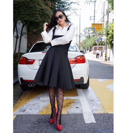 マシュマロタッチフレアスカート【BRACK】★1万円以上お購入で送料無料★