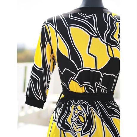 ミランダイエローラップドレス