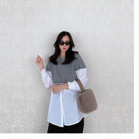 【9月15日まで10%OFF】ブリリアントアフタヌーン切り替えシャツ