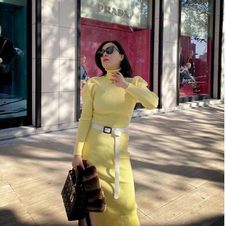 ハリウッドニットドレス【高級感あり】