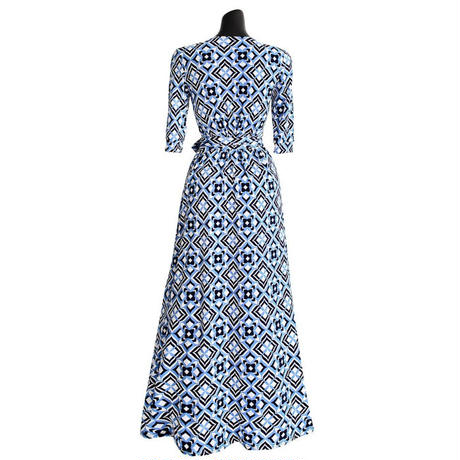 ブルーパリスラップドレス