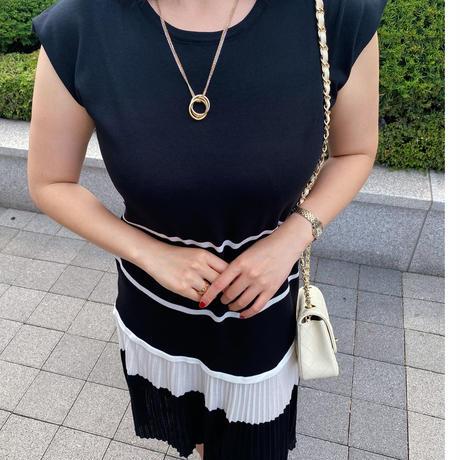 マリンサマーニットドレス