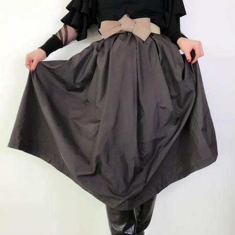 ドレススカート【黒・ベージュ・カーキ】