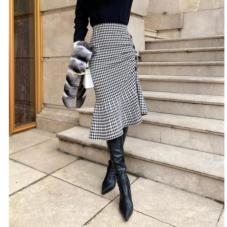 【1月19日まで5%OFF】千鳥マーメイドニットスカート【ガードルみたいにスタイルアップ】