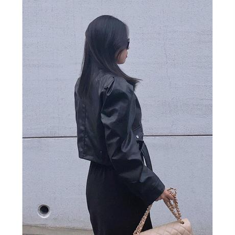 【10月17日まで1000円OFF】いい女エコレザージャケット