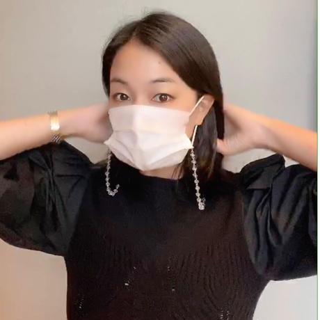 【1月23日まで半額】ルッキングダイヤビジューマスクネックレス【ハンドメイド】