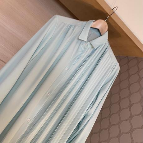 【3月16日まで1000円OFF】ラグジュアリープリーツシャツドレス【ベルトセット】