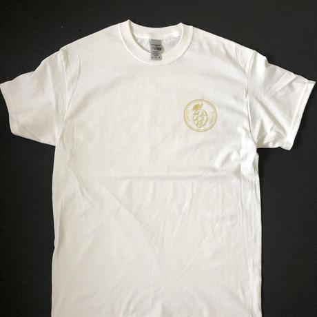 HOP LOGO-ヨ6コTシャツ ホワイト×VEGAS GOLD