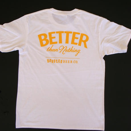 BETTER than Nothing Tシャツ White X LIGHT GOLD