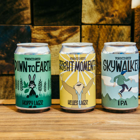 ビール15缶SET(内訳:Sky Walker IPA×5本、Bright Moments×5本、Down to Earth×5本)