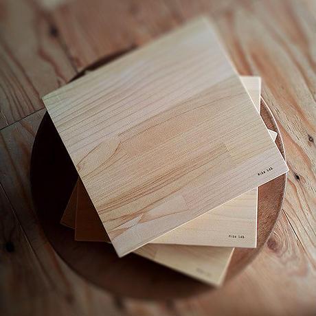 送料無料 3枚セット お皿がわりのトレー&鍋敷にも 20×20 寄せ木 カッティングボード