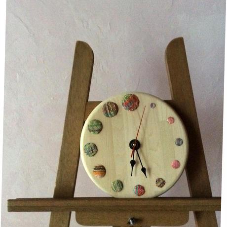 青森ヒバとさをり織りの時計