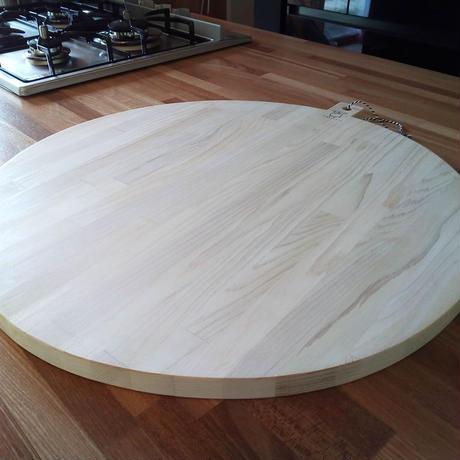 大きくて丸いまな板 50Φ 寄せ木