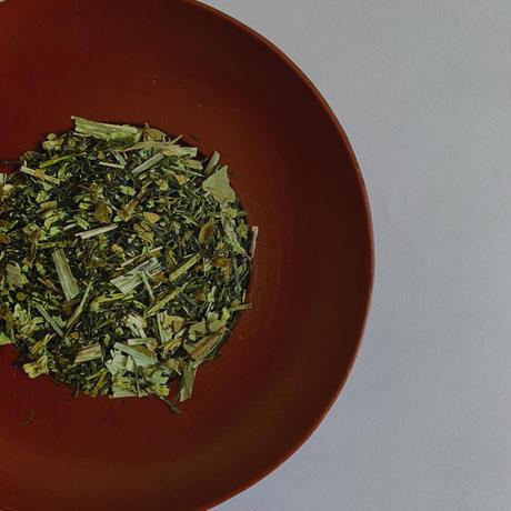 蕗の薹と柿葉の白折茶