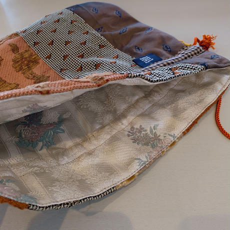 necktie kinchaku pochette (茶)