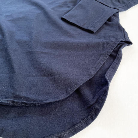 全3色レディース*prit-プリット-16/1空紡糸天竺両面起毛 ラウンドヘムロングプルオーバー P90243
