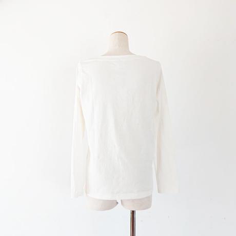 *レディース*grin★グリン★マナプールボートネック トリ刺繍T/ホワイト(8194C-027)