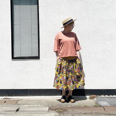 *レディース*TIGRE BROCANTE-ティグルブロカンテ-ラジャスターンプリントポケットフィセルスカート