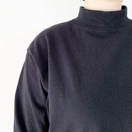 レディース*GoodWear-グッドウェア-モックネックロングワンピース MOCK ONEPIECE LONG/ブラック